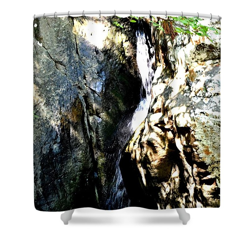 Glen Falls Shower Curtain featuring the photograph Glen Falls by Tara Potts