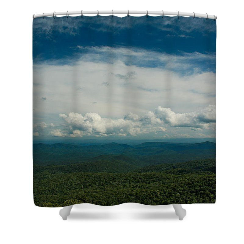 Landscape Shower Curtain featuring the photograph Globe And Sky by M W Kearney