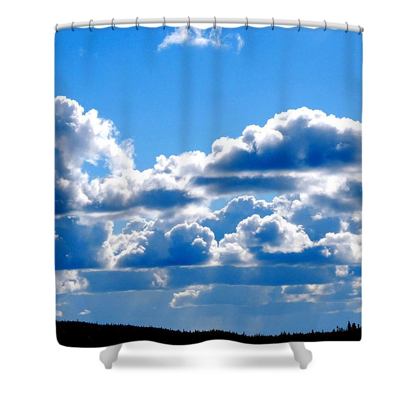 Cloud Shower Curtain featuring the photograph Glorious Clouds I by Kathy Sampson