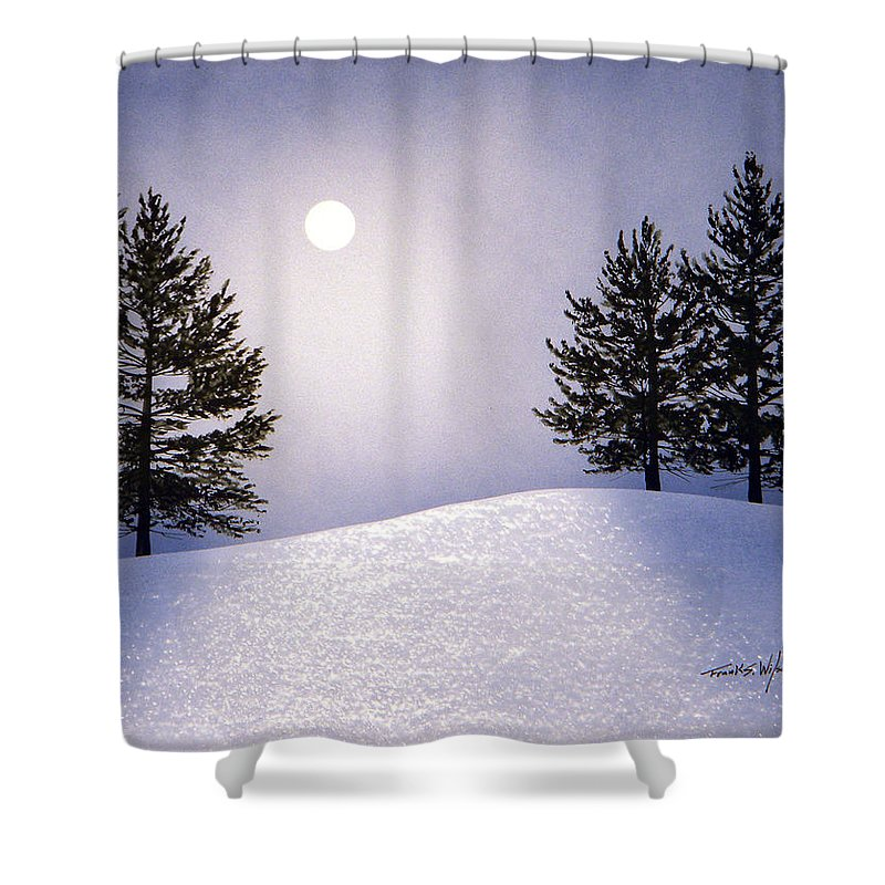 Mountains Shower Curtain featuring the painting Glorious Night by Frank Wilson