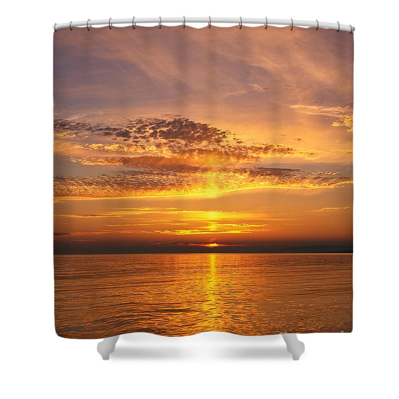 Dorset Shower Curtain featuring the photograph Glorious Sunset by Lana Enderle