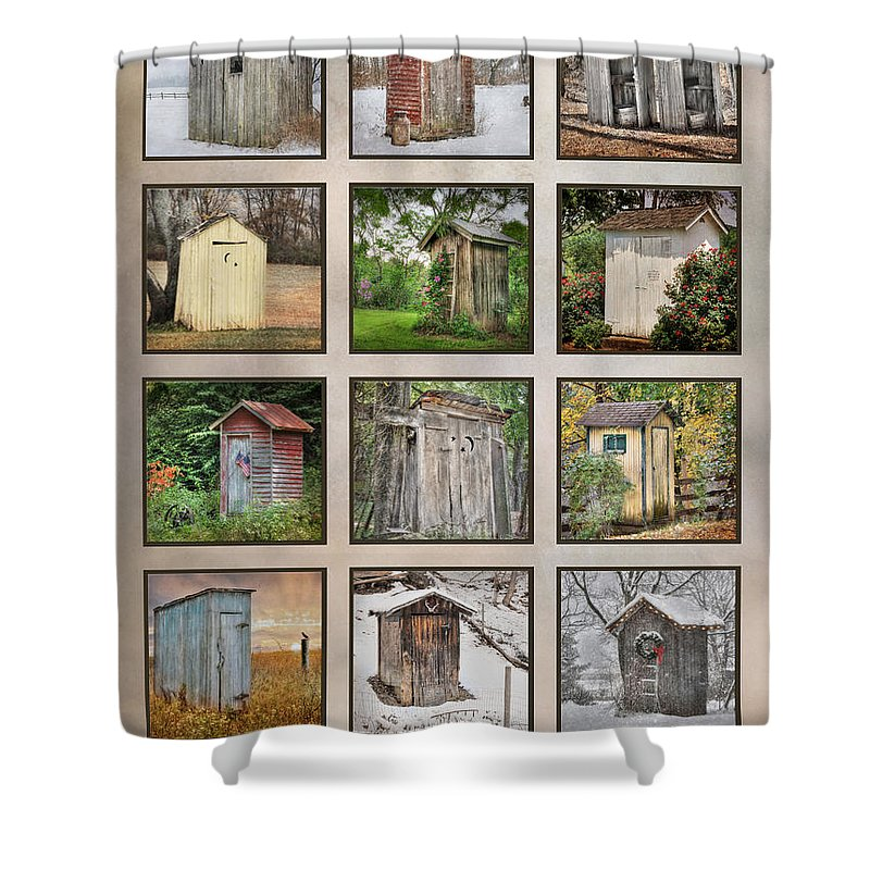 Outhouse Shower Curtain Featuring The Photograph Go In Style