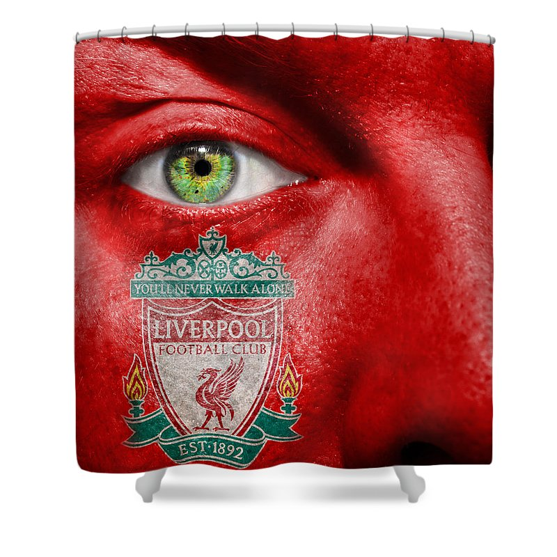 1892 Shower Curtain featuring the photograph Go Liverpool Fc by Semmick Photo