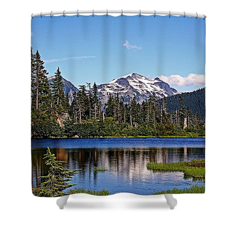 Mountains Shower Curtain featuring the photograph Goat Mountain by Lynn Bawden