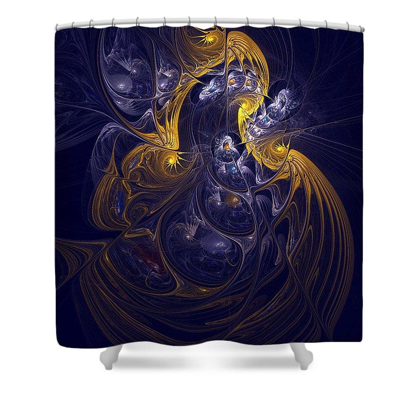Digital Shower Curtain featuring the digital art Goddess Of Healing Energy by Deborah Benoit