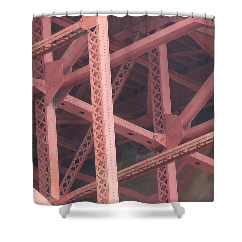 Golden Gate Bridge Shower Curtain featuring the photograph Golden Gate's Skeleton by Robert Phelan