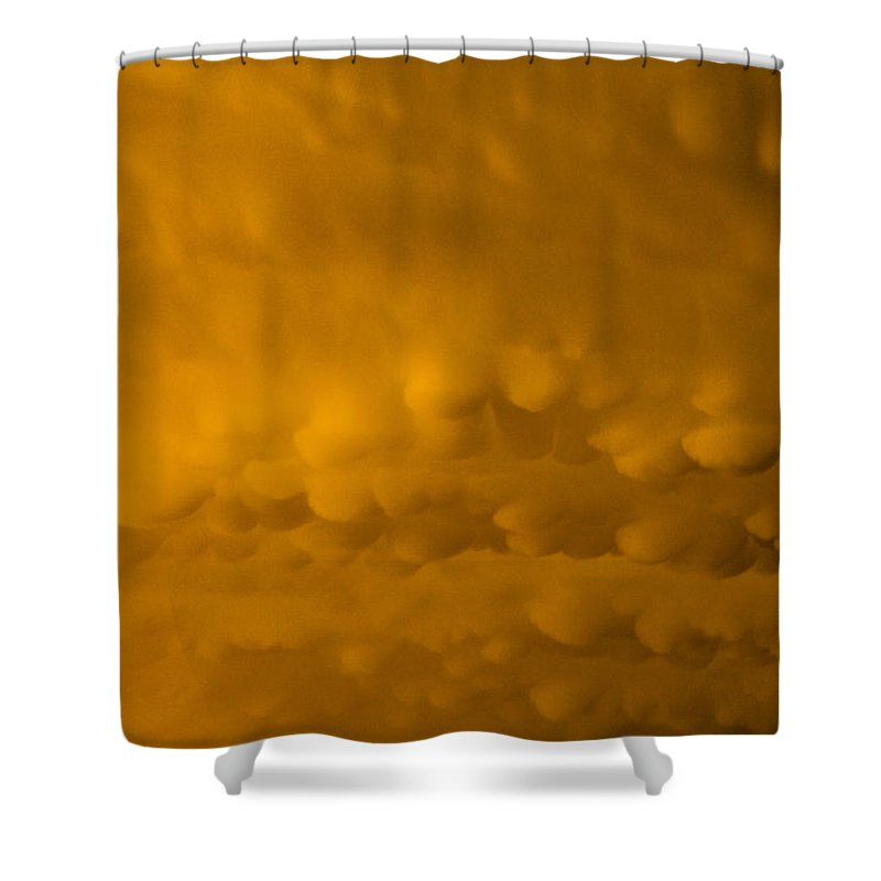 Mammatus Shower Curtain featuring the photograph Golden Mammatus by Bobby Eddins