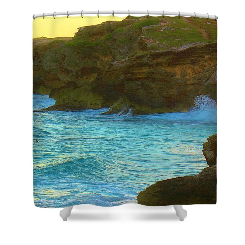 Keri West Shower Curtain featuring the photograph Golden Mujere by Keri West