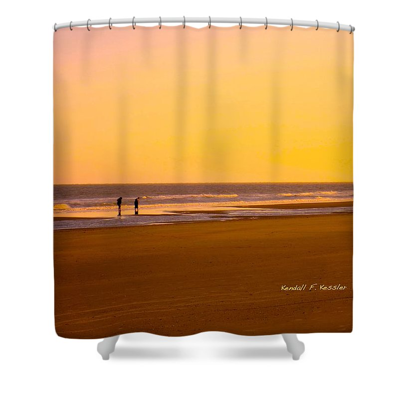 Kendall Kessler Shower Curtain featuring the photograph Goldlen Shore At Isle Of Palms by Kendall Kessler