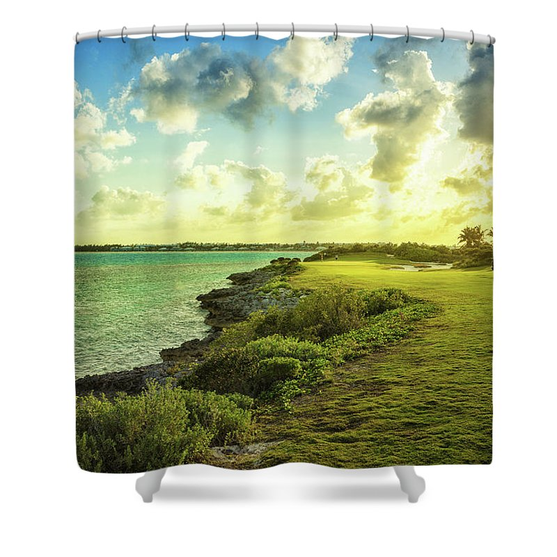 Scenics Shower Curtain featuring the photograph Golf Course by Chang