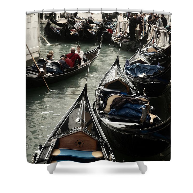 Gondola Shower Curtain featuring the photograph Gondola by Kim Pin Tan