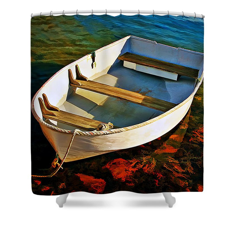Transportation Shower Curtain featuring the photograph Gone Fishing by Marcia Colelli