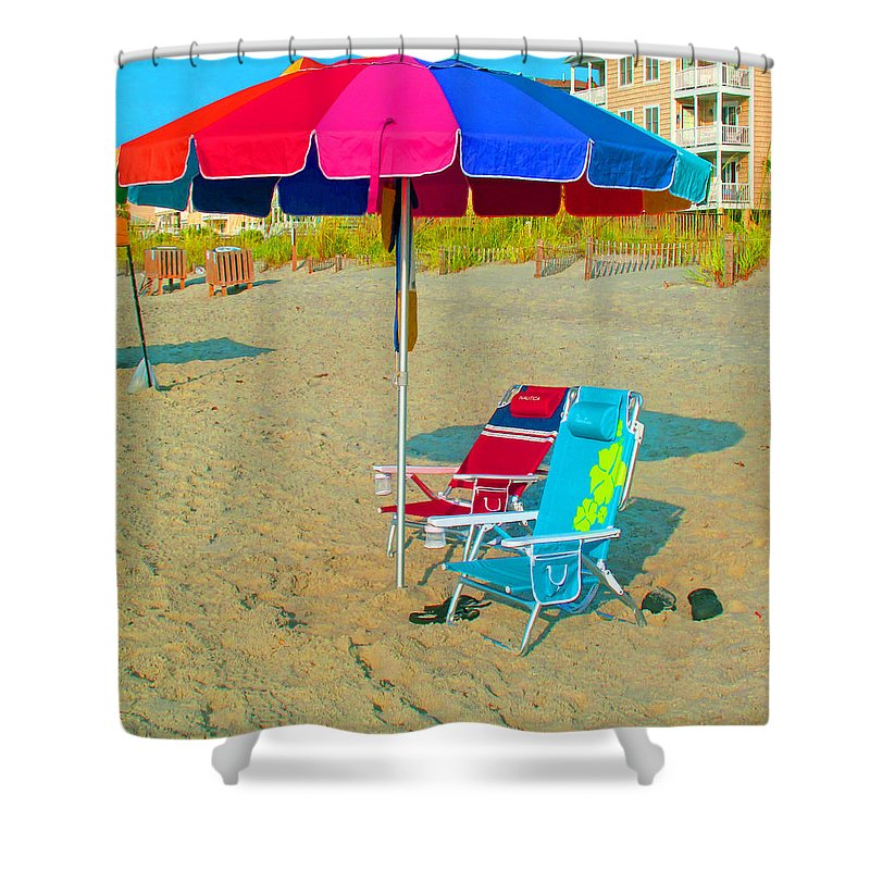 Landscape Shower Curtain featuring the photograph Gonna Be A Hot One by Barbara McDevitt