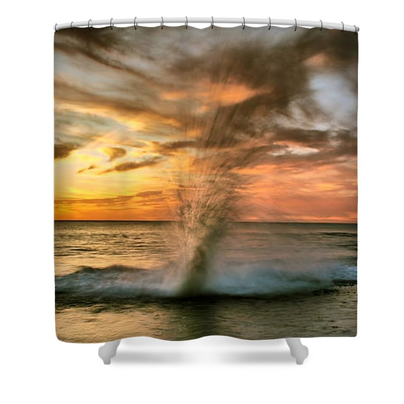 Sunset Shower Curtain featuring the photograph Gotcha by Kym Clarke