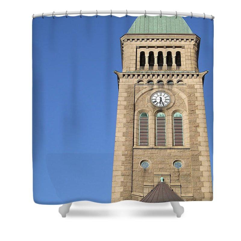 Church Shower Curtain featuring the photograph Gothenburg Church 08 by Antony McAulay