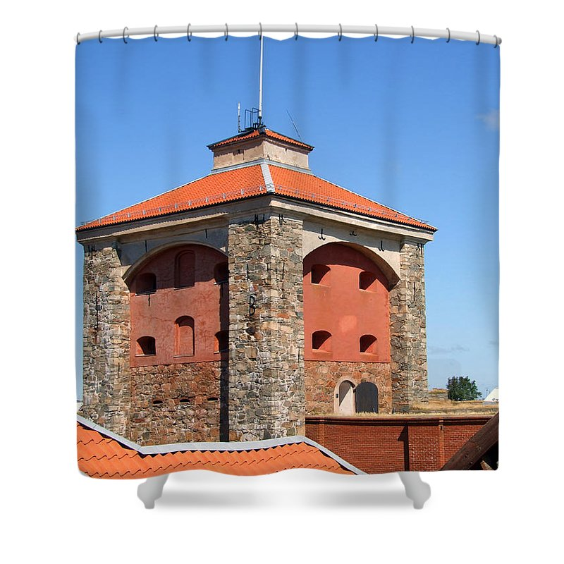 Abandoned Shower Curtain featuring the photograph Gothenburg Fortress 03 by Antony McAulay