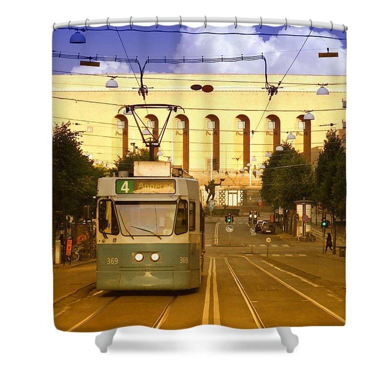 Gothenburg Shower Curtain featuring the photograph Gothenburg Tram 04 by Antony McAulay