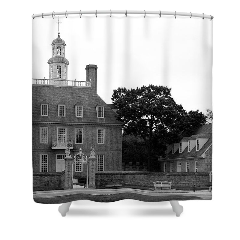 Governers Palace Shower Curtain featuring the photograph Governers Palace Colonial Williamsburg by Christiane Schulze Art And Photography