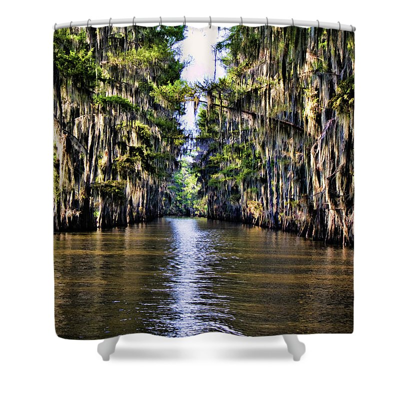 Bayou Shower Curtain featuring the photograph Government Ditch by Lana Trussell