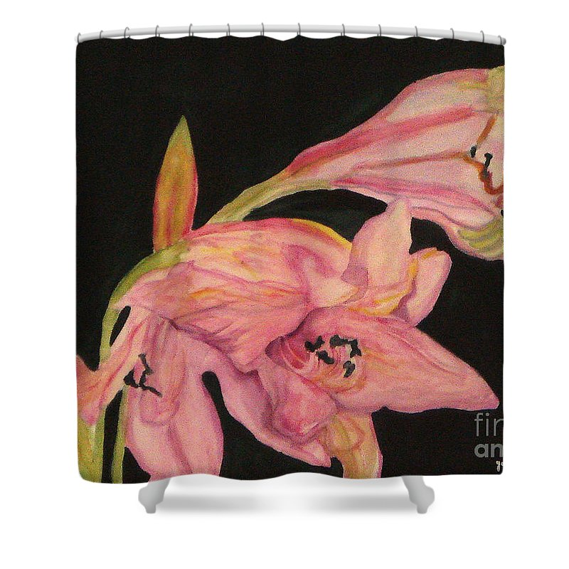 Water Color Flower Shower Curtain featuring the painting Grace by Yael VanGruber