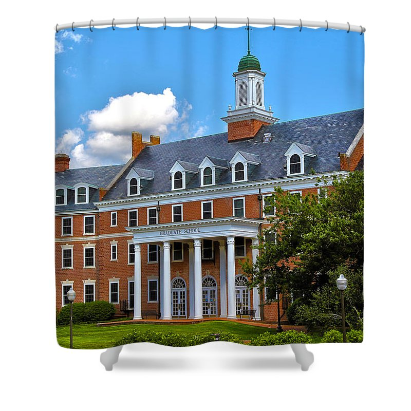 College Shower Curtain featuring the photograph Graduate School by Mitch Cat