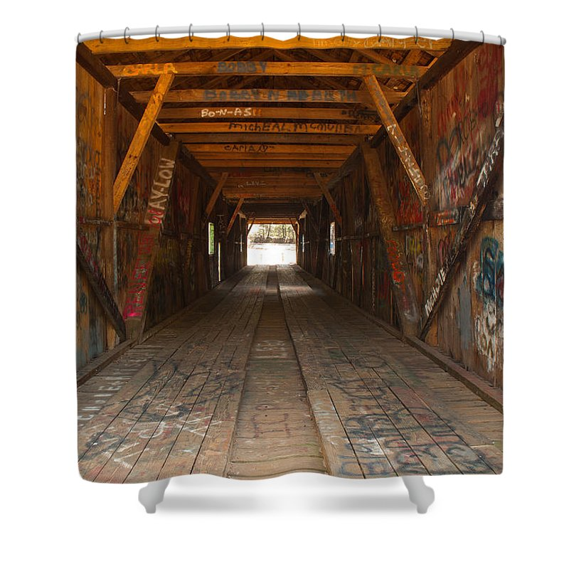 Graffiti Shower Curtain featuring the photograph Graffiti by Charles Beeler