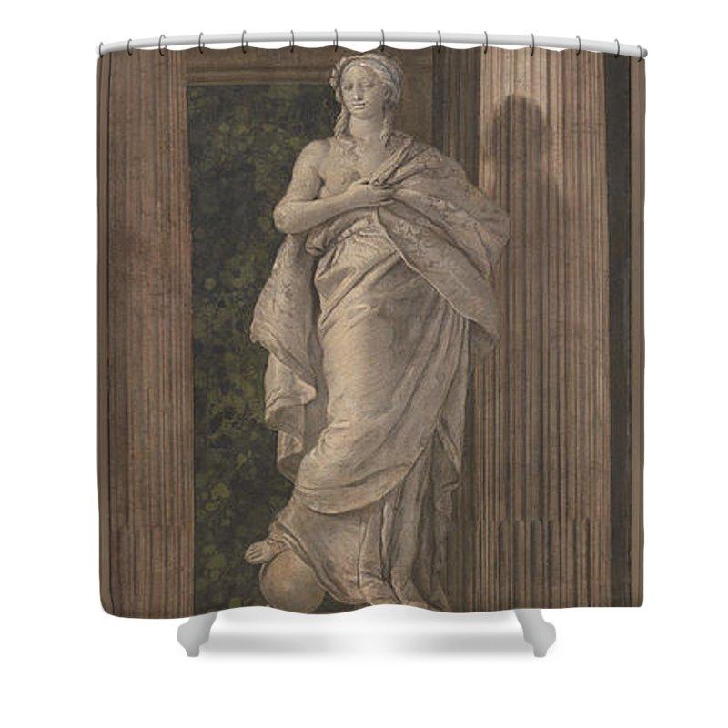 Giovanni Battista Tiepolo Shower Curtain featuring the painting Grammar by Giovanni Battista Tiepolo