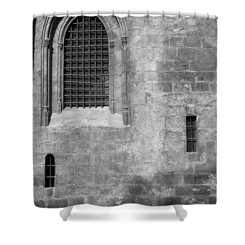 Mono Shower Curtain featuring the photograph Granada Cathedral Monochrome by Guido Montanes Castillo