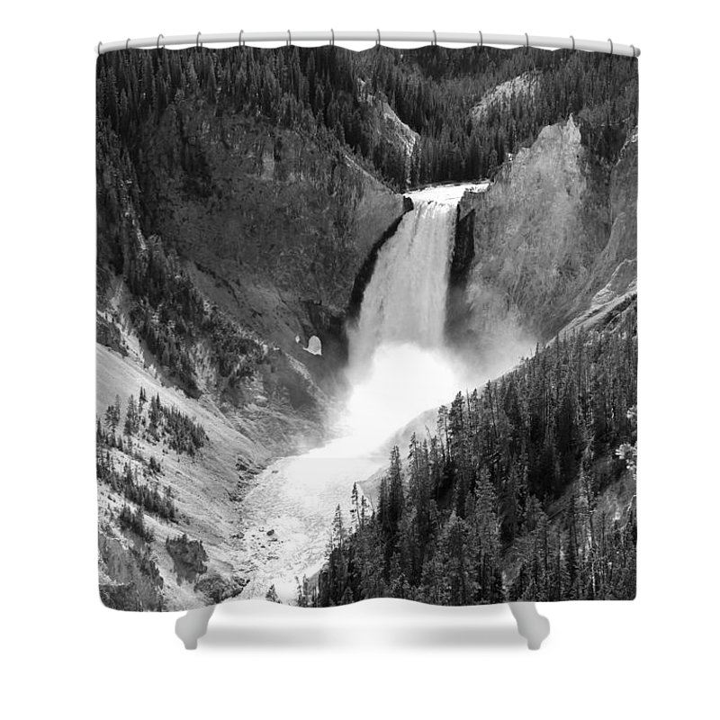 Lower Falls Shower Curtain featuring the photograph Grand Canyon Of The Yellowstone by Christiane Schulze Art And Photography