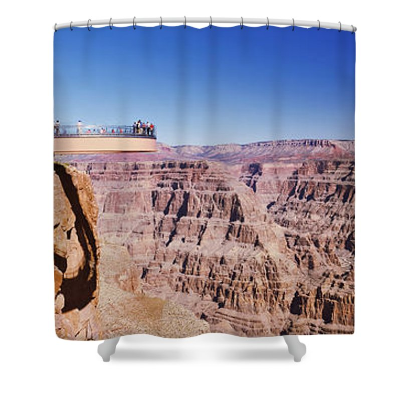 Photography Shower Curtain featuring the photograph Grand Canyon Skywalk, Eagle Point, West by Panoramic Images