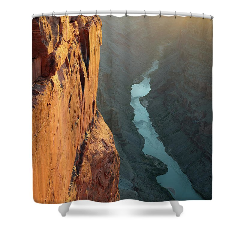 Scenics Shower Curtain featuring the photograph Grand Canyon Toroweap Point Morning by Kjschoen