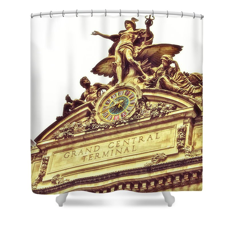 Grand Central Terminal Shower Curtain featuring the photograph Grand Central by Karol Livote