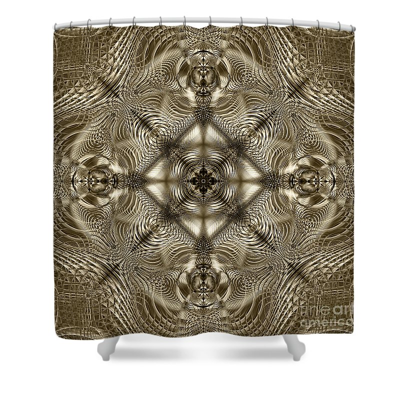 Lace Shower Curtain featuring the digital art Grandma's Lace by Klara Acel