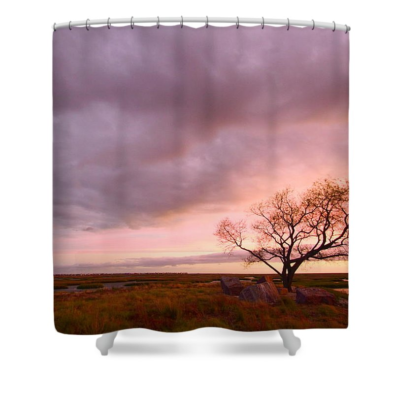 Galveston Shower Curtain featuring the photograph Storm At Dusk 2am-108346 by Andrew McInnes