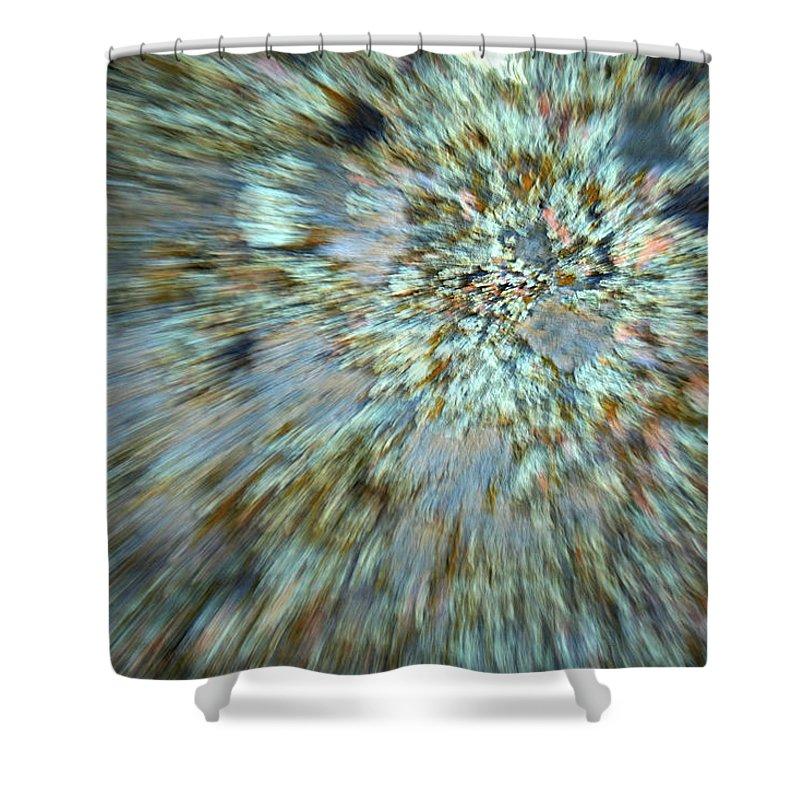 Psychedelic Shower Curtain featuring the photograph Granite Dreams by Ric Bascobert