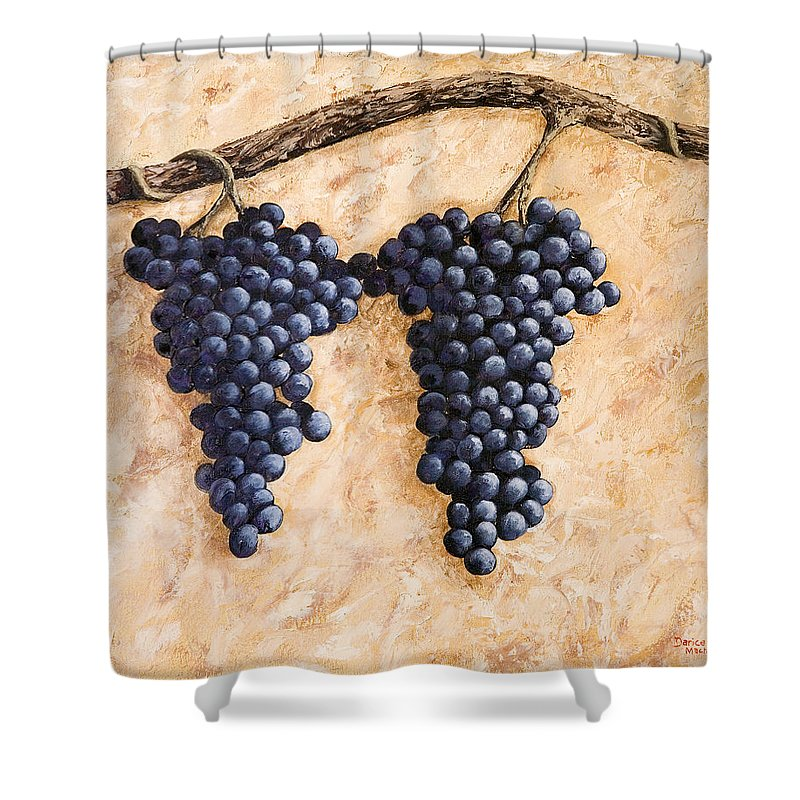 Grape Vine Shower Curtain featuring the painting Grape Vine by Darice Machel McGuire