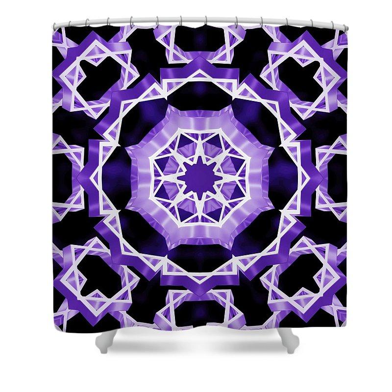 Sacredlife Mandalas Shower Curtain featuring the digital art Gravity Eye by Derek Gedney