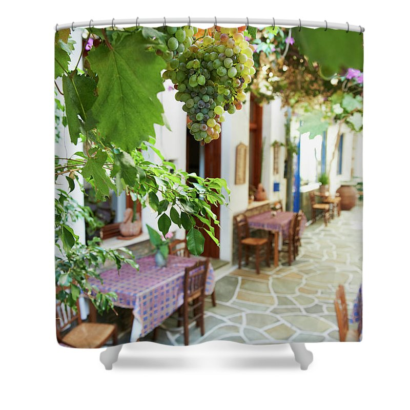 Tranquility Shower Curtain featuring the photograph Greece, Cyclades Islands, Kythnos by Tuul & Bruno Morandi