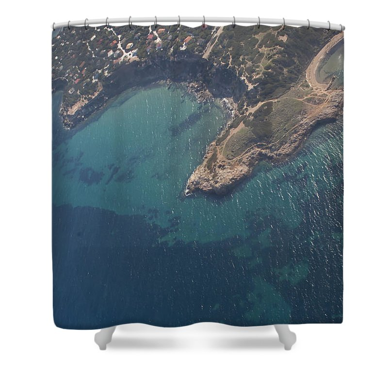 Island Shower Curtain featuring the photograph Greek Island In The Aegean Sea  #7444 by J L Woody Wooden