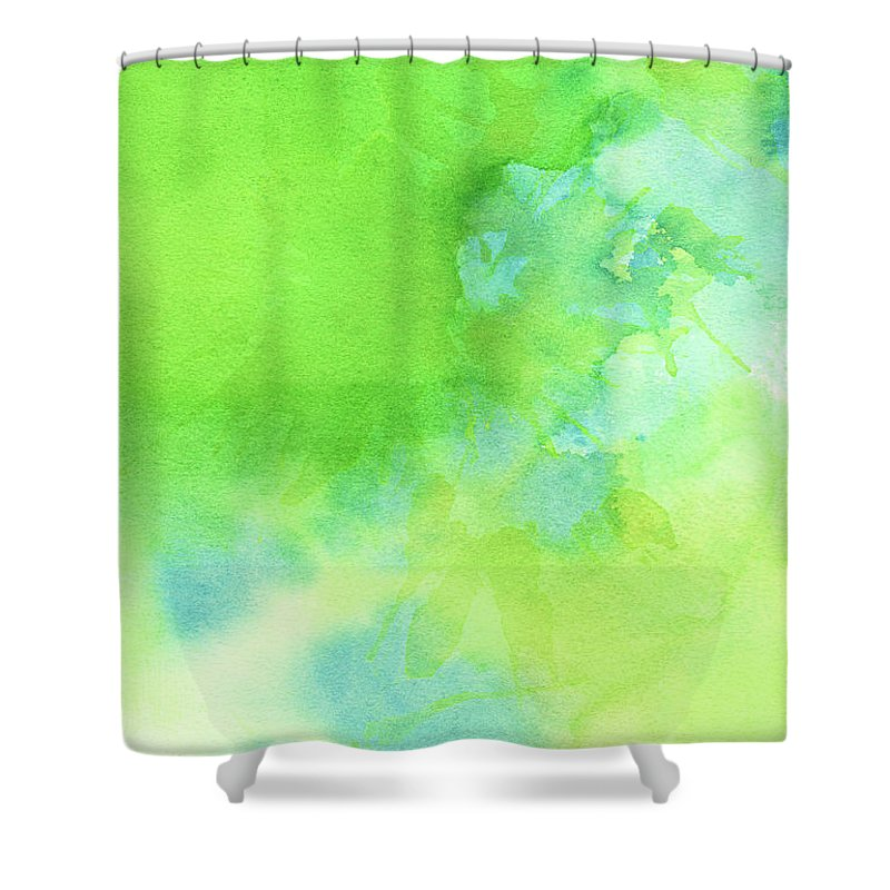 Art Shower Curtain featuring the photograph Green Blue Background Abstract by Taice