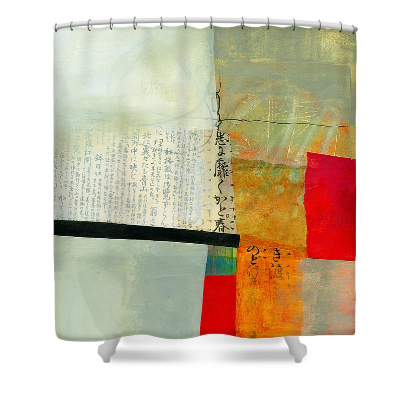 Jane Davies Shower Curtain featuring the painting Grid 1 by Jane Davies