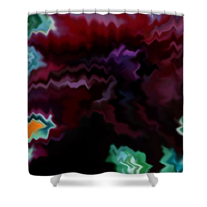 Fine Art Shower Curtain featuring the mixed media Grief by Patricia Griffin Brett
