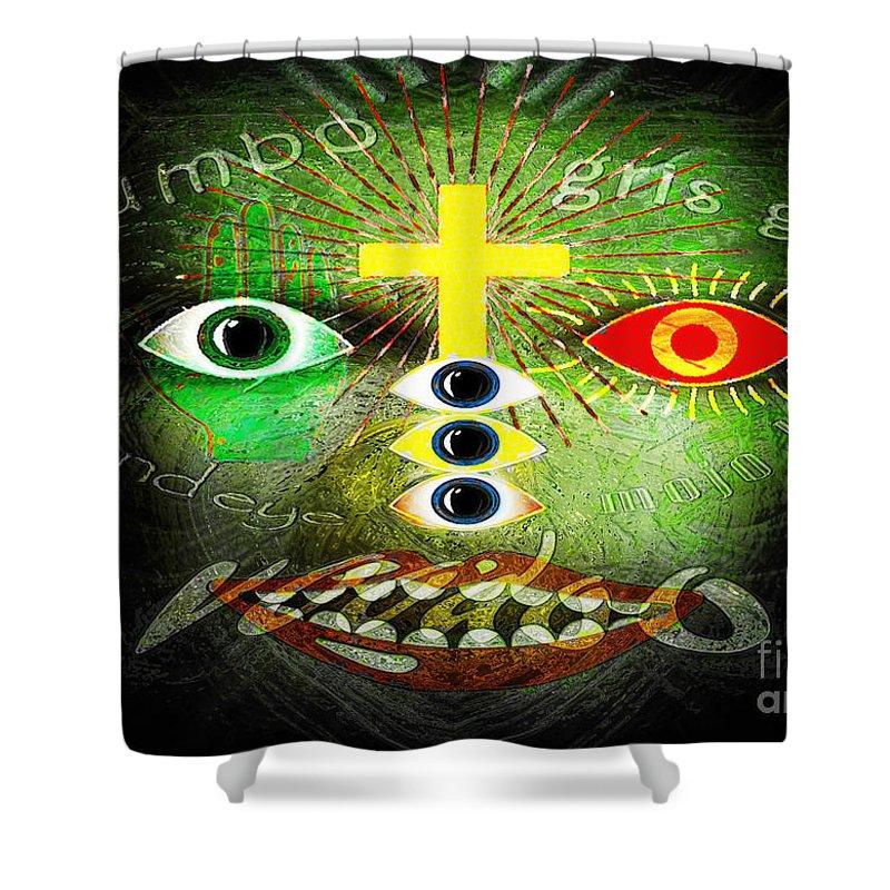 Gris Gris Shower Curtain featuring the digital art Gris Gris by Neil Finnemore