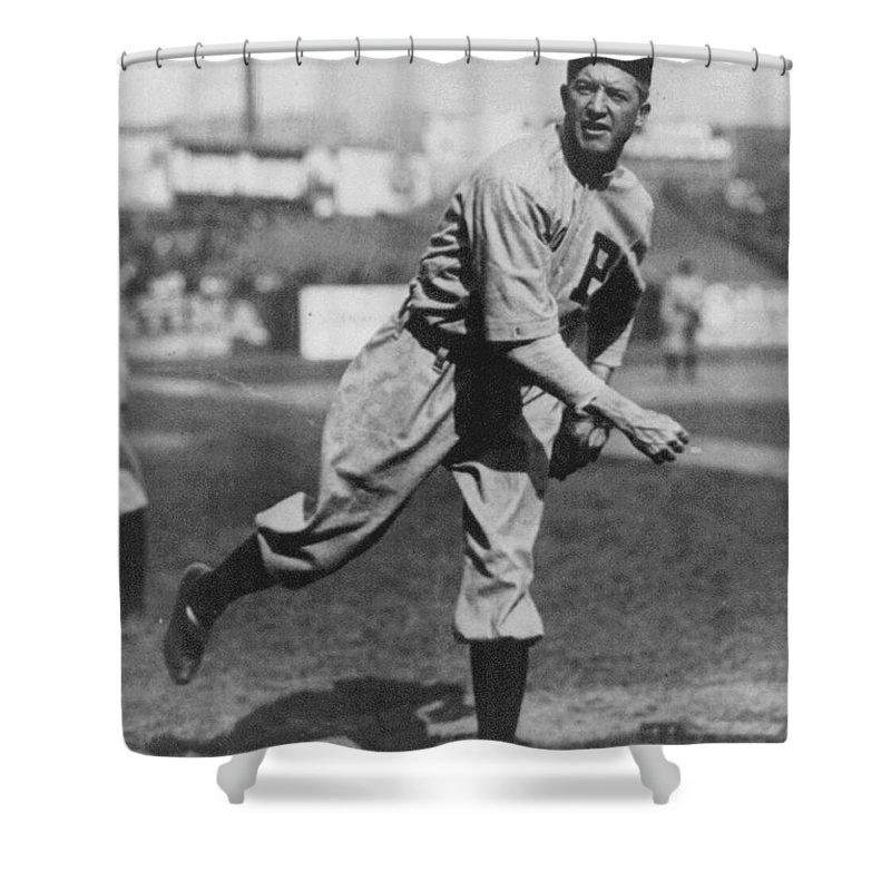 Grover Cleveland Alexander Shower Curtain featuring the photograph Grover Cleveland Alexander 1915 by Unknown