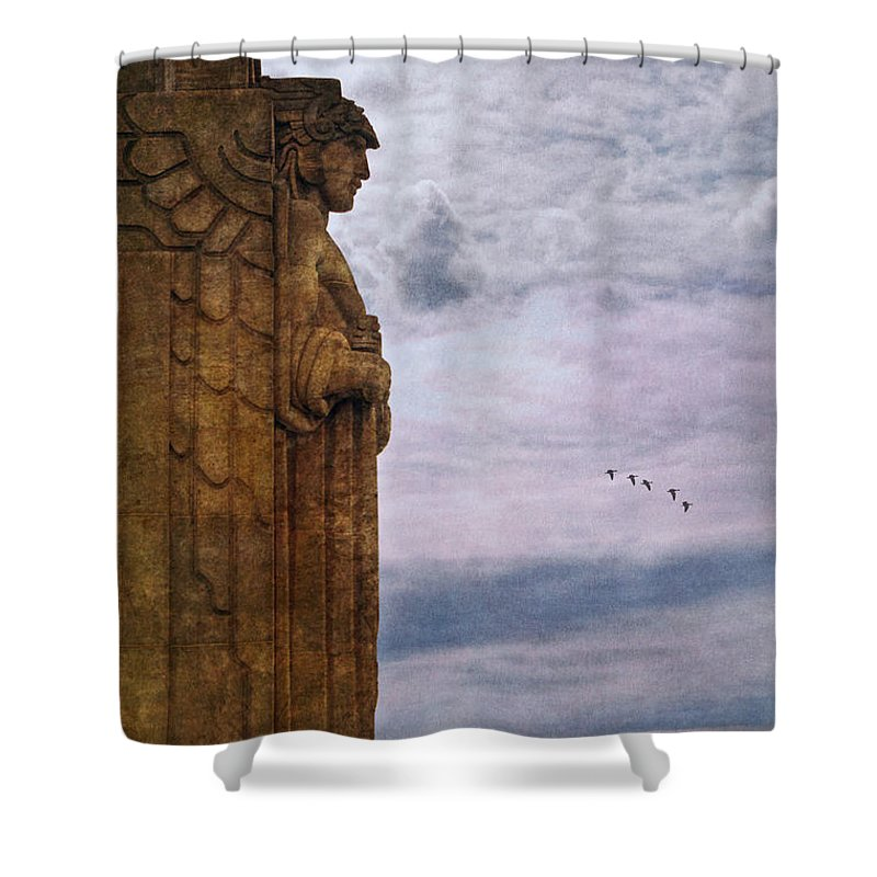 Guardian Of Hope Shower Curtain featuring the photograph Guardian Of Hope by Dale Kincaid