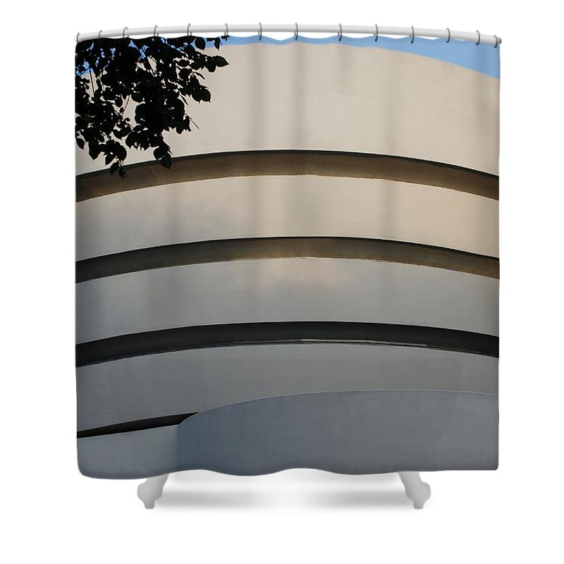 Scenic Shower Curtain featuring the photograph Guggenheim In The Round by Rob Hans