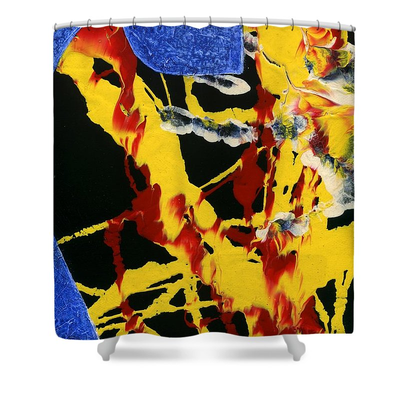 Guitar Shower Curtain featuring the painting Guitar 9 Part 1 by Matthew Howard