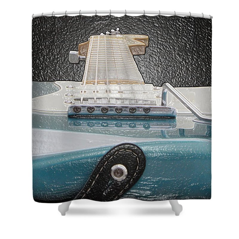 Guitar Shower Curtain featuring the photograph Guitar Art by Shoal Hollingsworth