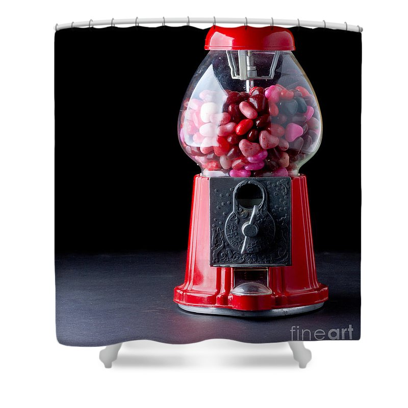 Love Shower Curtain featuring the photograph Gumball Machine by Edward Fielding