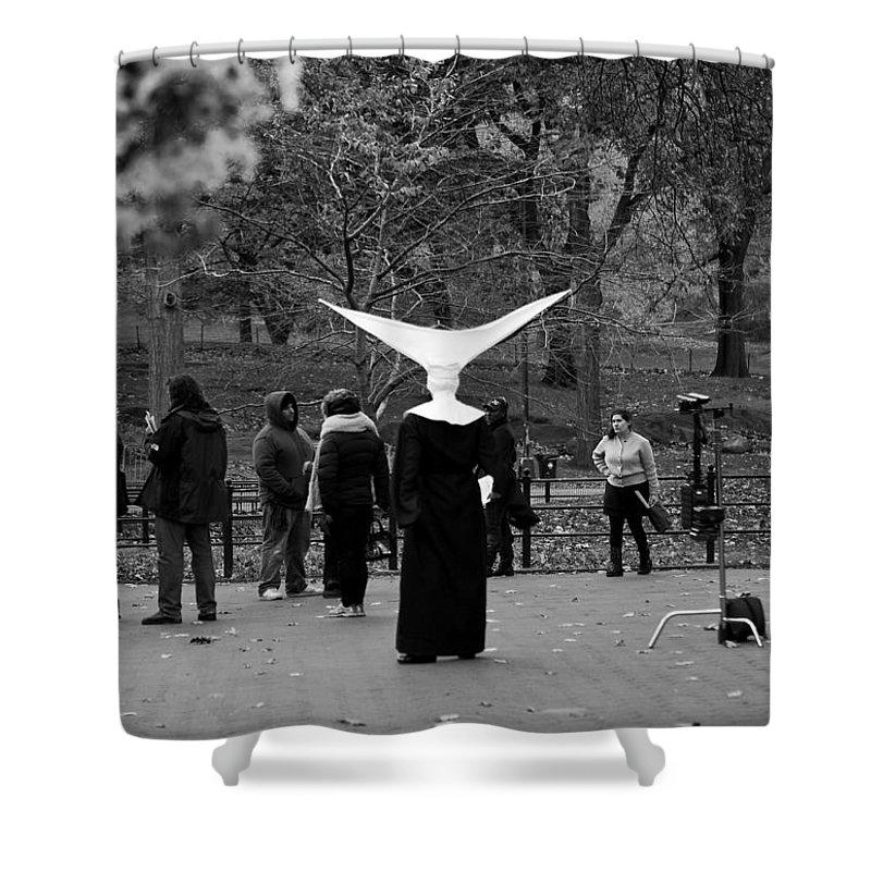 New York City Shower Curtain featuring the photograph Habit In Central Park by Lorraine Devon Wilke